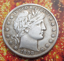 Wholesale Barber Dollars - 1892 Barber Half Dollars COIN COPY Wholesale Hot selling High Quality old style Copy coin Free shipping