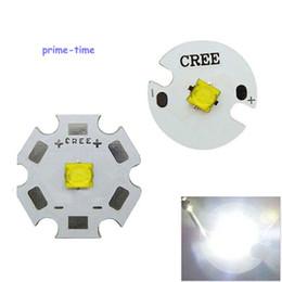Wholesale Cree Xt E - Wholesale- Promotions 5pcs 5W Cree Xlamp XTE XT-E LED Led Emitter White 6000-6500K 16mm 20mm Base LED Chip light