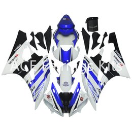 Wholesale Motorcycle Cover Plastic - 3 gift New Fairings For Yamaha YZF-R6 YZF600 R6 06 07 2006 2007 ABS Plastic Bodywork Motorcycle Fairing Kit Cowling Cover Blue White