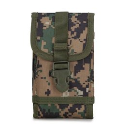 Wholesale Large Screen Phone Wholesale - 2017 Molle Gear Military Tactical Waist Bag Nylon Outdoor Multi Functional Large Screen Molle Phone Pouch for Iphone Sumsung