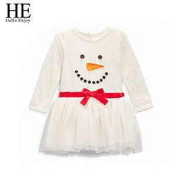 Wholesale Wholesale Baby Girls Clothing China - Wholesale- Hello Enjoy Christmas dress girl dress santa claus baby girls clothing dresses kids clothes Fashion infant clothing china