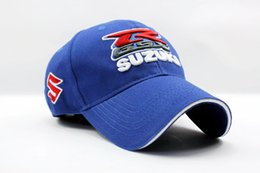 Wholesale Suzuki Caps - Wholesale- men women sport Baseball Cap Hat black blue Motorcycle MOTO GP suzuki hat cap