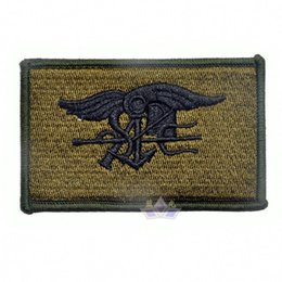 Wholesale Army Bdu - 30PCS Navy Seals Embroidery Patches Double Face Hook Cloth Epaulette Armband Army Badge Tactical Patch For BDU Jacket Cap free ship