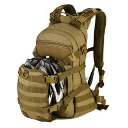 Wholesale Helmet Camo - Outdoor Cycling Backpack 25L Travel Nylon Camo MOLLE Helmet package Versatile Bag