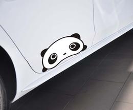 Wholesale Black Exterior Doors - 1pc Automobile Exterior Accessory Panda Car Stickers 25cm * 12cm Cartoon Panda Car Sticker Funny Panda Auto Supplies