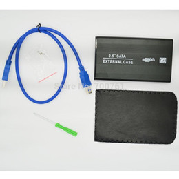 "Wholesale Ide Sata Case - Wholesale- 3pcs 2.5"" SATA hard drive HDD Enclosure Case Suitable for 2.5"" IDE hard disk usb 3.0 High Speed External sata HDD Case"