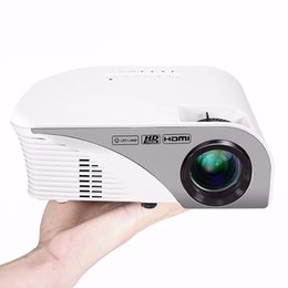"""Wholesale Optical Projectors - Wholesale-Portable LED Projector 1200 Lumens Max 120"""" Screen Optical Keystone AV VGA SD USB HDMI for Video Game Movie Night Family Video"""