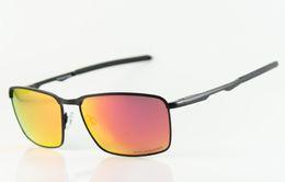 Wholesale Sunglasses Fire - Wholesale- New Brand Metal Sports Sunglasses Designer Polarized Eyewear Mens Womens Fashion 4106 Black Sunglasses Fire Iridium Lens