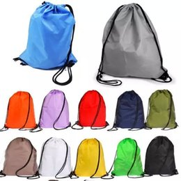 Wholesale Dance Jogging - No printing sales kids' clothes shoes bag School Drawstring Frozen Sport Gym PE Dance Backpacks