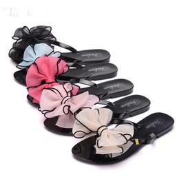 Wholesale Leather Plastic Slippers - Summer Flip Flops Slippers Women Flat Down Fashion Butterfly Flowers Beach Sandals Folder Women Sandals Plastic Aanti - skid Shoes