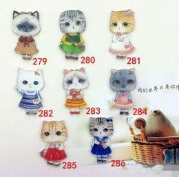 Wholesale badge cat - Yakeli the latest Japanese harajuku badge pin Cute cat meow star control people 30 pcs free shipping