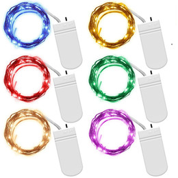 Wholesale Led Battery Operated String Lights - Fairy String Lights Battery Operated 7.2ft(2.2M) 20 Leds Firefly Micro String Lights Copper Wire For Wedding Centerpiece Thanksgiving