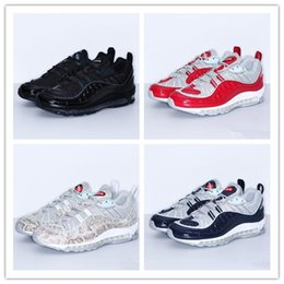 Wholesale Blue Labs - 2017 World Famous Maxes 98 x Lab Varsity All White High Quality Running Shoes for Mens Fashion Maxes 98s Casual Sneakers Size 36-46