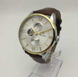 Wholesale leather butterfly belt - New Automatic Mechanical Watch A Man's Multi Pin Genuine Leather Belt Watch Brand Fashion Perspective Bottom Cover Watch