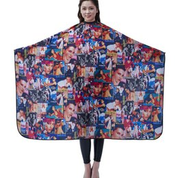 Wholesale Beauty Salon Capes - Salon Professional Hair Styling Cape, Adult Hair Cutting Coloring Styling Cape Hairdresser Wai Cloth Barber Fashion Beauties Pattern Capes