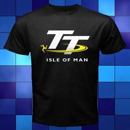 Wholesale Collared Racing Shirts - New TT Racinger Isle of Man Road Race Logo Black T-Shirt Size S M L XL 2XL 3XL Youth Round Collar Customized T-Shirts