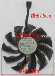 Wholesale 12v Fan Control - GIGABYTE GTX960 970 0.5A 0.5A 12V T129215SU 4 line temperature control card fan