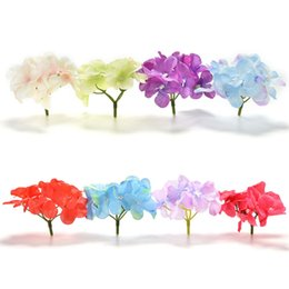 Wholesale French Artificial Flowers - Wholesale- Room Hydrangea DIY Flores Artificiales Artificial Fabric Peony Flowers Plants French Rose1 Bouquet Wedding Decoration