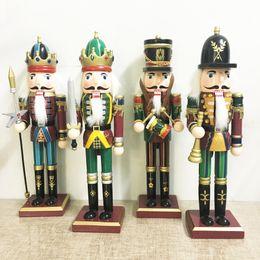 soldatenmalerei Rabatt 2017 Weihnachten holz dekoration handbemalte walnuss soldaten Kings artesanato 30 cm Nussknacker Marionettensoldaten Holz handwerk