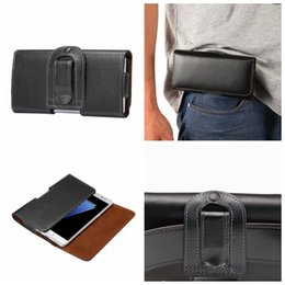 Wholesale Genuine Leather Horizontal - For Iphone 7 Plus 6 6S SE For Sony XA XZ Z5 Z4 Z3 Galaxy S8 S7 S6 Real Genuine Hip General Leather Clip Case Horizontal Holster Flip Pouch