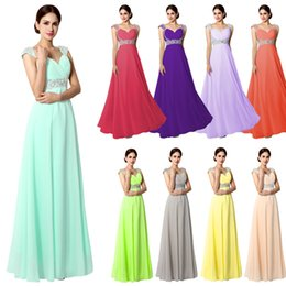 Wholesale Mint Green Sequin Prom Dress - Cheap Bridesmaid Dresses Long Chiffon Prom Evening Formal Gowns 2015 A-Line Sweetheart Beaded Mint Orange Burgundy Maid of Honor Custom Made