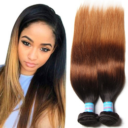 Wholesale Virgin Ombre Hair For Weave - Hot Selling Ombre Color Brazilian Straight Virgin Hair Weft 7A Grade Crochet Human Hair Weaves For Women 3 Bundles 300g Hair Extensions