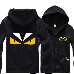 Wholesale 3xl Anime Costumes - Free shipping Anime Little monster Costume Zip Hoodie Sweatshirt Hooded cartoon Coat