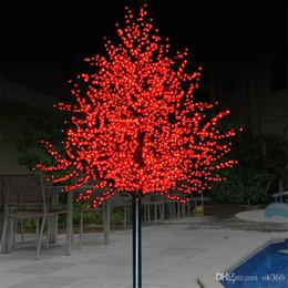 Luzes artificiais ao ar livre das árvores on-line-LED LED Artificial flor de cerejeira Árvore Luz Cordas Natal 1152pcs Lâmpadas 2m / 6,5 pés de altura 110 / 220VAC Rainproof Outdoor Garden Decor