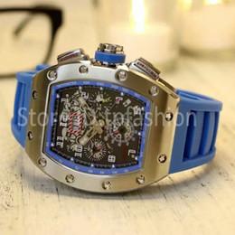 Wholesale Dress Winding - Top Fashion Automatic Mechanical Self Wind Watch Men Silver Dial Classic Rubber Strap Wristwatch Tonneau Designer Dress Clock 6061
