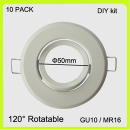 Wholesale Mr16 Down Lights - Drop shipping 10 PACK led ceiling lights frame cutout dia50mm led down lights round MR16 edge gu10 holder accessories for spot lights