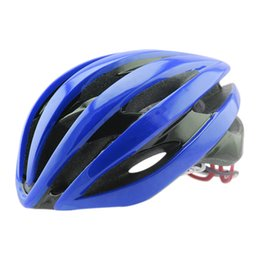 Wholesale Mountain Red Helmet - Bicycle Helmet With LED Warning Lights Cycling Helmet Ultralight PC+EPS Road Mountain MTB Bike Helmet Cycling Helmets