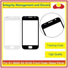 Wholesale Galaxy S1 - High Quality For Samsung Galaxy S1 I9000 S2 I9100 I9105 S3 Mini I9300 I9305 I747 I8190 Front Outer Glass Lens Touch Screen Panel