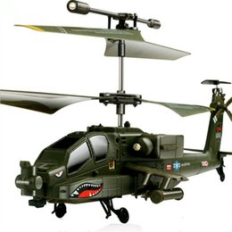 Wholesale Indoor Toy Helicopter - Helicopter Gunships Simulation Indoor Radio Remote Control Toys SYMA S109G Mini 3.5CH RC Helicopter for chrismas gift
