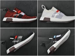 Wholesale Out Stock Shoes - 2017 New NMD Omega Nmds Runner Primeknit Running Shoes Sport Women Men Shoe Air Brand Sneaker Black White Red NMD R1 City Stock