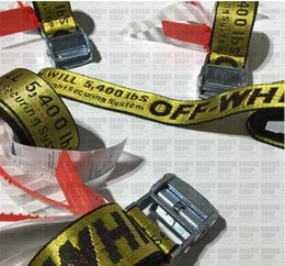 Wholesale Belt Army - Off-white Belt Unisex Hip Hop Fashion Style Skateboard Army Military Ceinture Kanye West You Cut Me Off White Virgil Abloh Belts