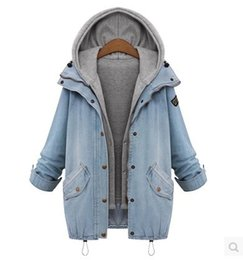 Wholesale Hooded Vests For Women - Wholesale-Autumn and Winter Coat Wool Zipper Hoodied Outerwear Women Medium-Long Coat Jeans Hoody 2pcs Jacket and Vest for 1 set