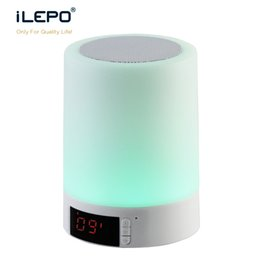 Wholesale Mini Table Clocks - Table Lamp Bluetooth Speaker Music Player Smart Touch LED Wireless Speaker with Alarm Clock Power Bank