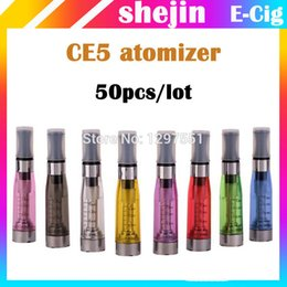 Wholesale Ego Twist Ce6 Atomizer - Wholesale- 50pcs lot ce5 atomizer ce5 vaporizer 1.6ml electronic cigarette vaporizer for ego t ego twist evod vision battery VS mt3 ce6
