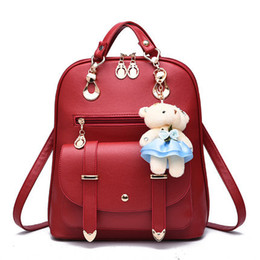 Wholesale Leather Fashionable Backpacks - 2017 hot sale popular and fashion new backpack bags fashionable PU leather dual-use bag lady bags