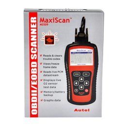 Wholesale Autel Cables - 2017 Autel MS509 scanner OBDII OBD2 Car Code Reader Maxiscan MS 509 Automotive Diagnostic Tool free shipping