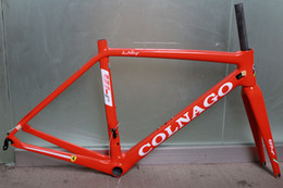 Wholesale Carbon Road Bike Frameset 56cm - 4 color can choice colnago v1r road bike carbon frame full carbon fiber road bike frame 48 50 52 54 56cm T1000 carbon frameset