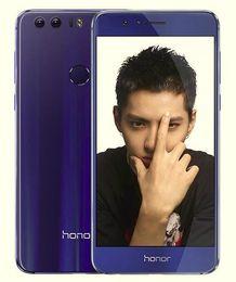 Wholesale Huawei Fhd - Huawei Honor 8 Unlocked Cell Phone Octa Core Kirin950 32GB 64GB 5.2inch FHD Dual Rear Camera 12MP 4G LTE Fringerprint