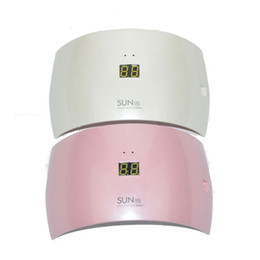 Wholesale Salon Gel Lamps Wholesale - Hot SUN9S SUN9C Nail Dryer 24W UV Lamp White Light Timer Button Control Professional Nail Lamp Curing UV LED Nail Gel Salon Machine Tool