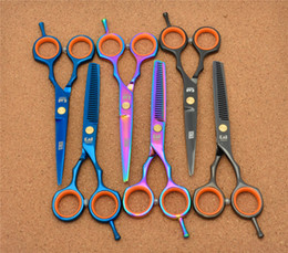 Wholesale Top Hair Factory - 2Pcs H1004 5.5'' Japan Kasho TOP GRADE Hairdressing Scissors Factory Price Cutting Scissors Thinning Shears professional Human Hair Scissors