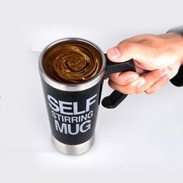 Wholesale Automatic Tea - 500Ml Mug Automatic Electric Lazy Self Stirring Mug Automatic Coffee Milk Mixing Mug Tea Smart Stainless Steel Mix cup