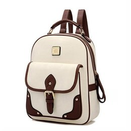 Wholesale Girl Bags For High School - 2017 New PU Leather Women Backpack Casual School Bags For Teenagers Girls Travel BackPacks High Quality Shoulders Bag
