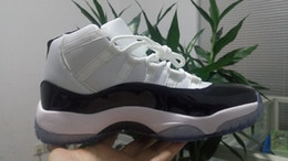 Wholesale Plus Size Rubber Boots - 11s Concord Plus size Retro 11 mens basketball shoes white black bigger size 14 ,15 women outdoor athletic boots sneaker