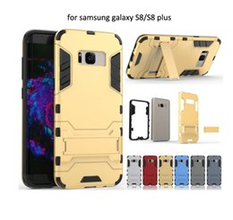 Wholesale Black Iron Rubber - Iron Man Cover for Samsung Galaxy Note8 S8 Plus S7 EDGE S6 Note5 Note4 Hybrid Shock Proof Hard Armour Heavy Rubber CASE
