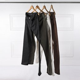 Wholesale Fear Factory - Wholesale-KOM 2017 kanye west mens designer clothes factory connection clothing fear of god justin bieber skinny ankle zipper jeans 30-36