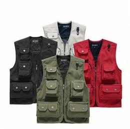 Wholesale Camera Man Vest - Wholesale- Hot Sale New Mens Mesh Photography Camera Photo Vest Jacket Waistcoat Plus Size M-2XL